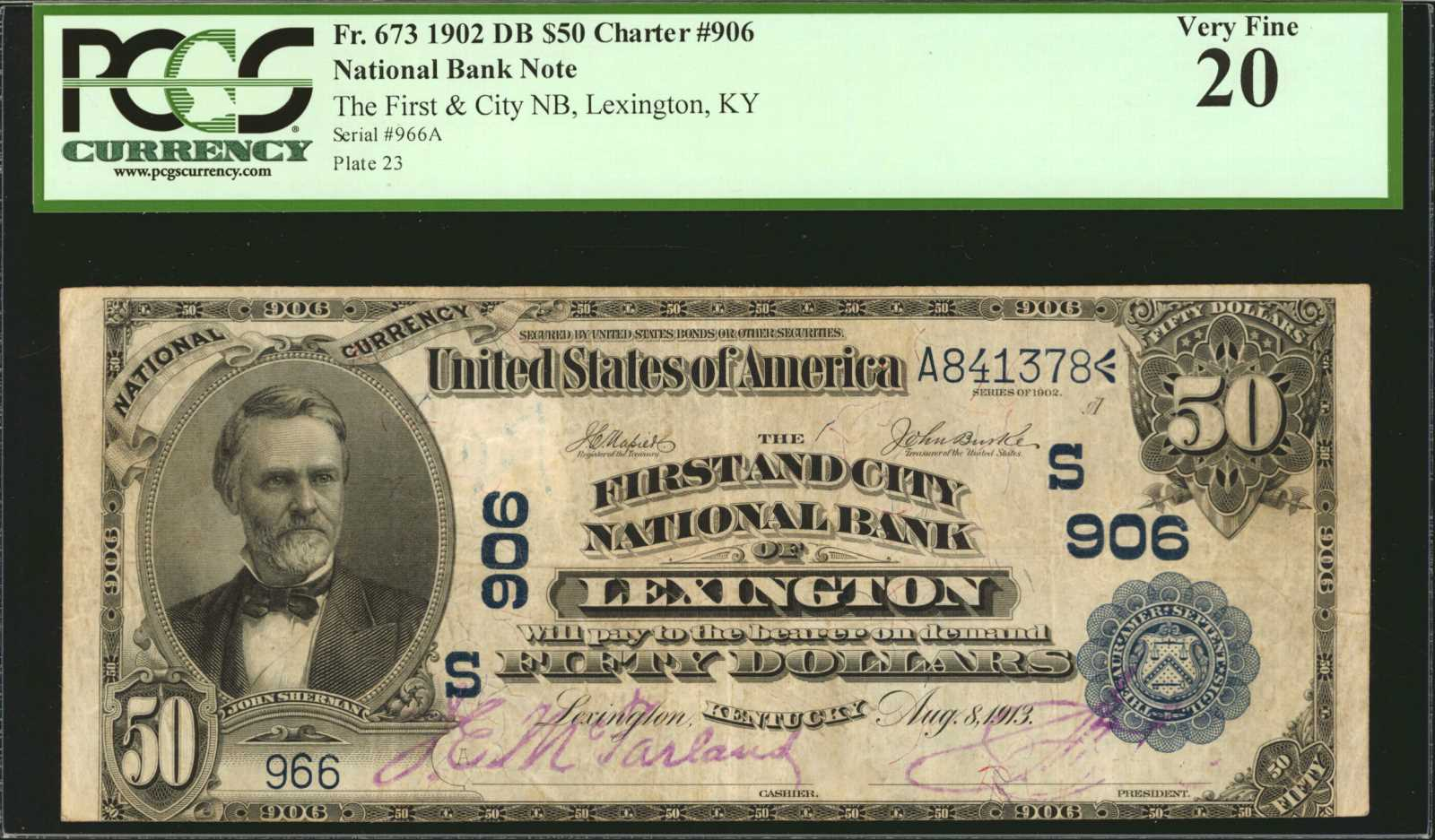sample image for 1902 3rd Charter Period $50  Date Back 2nd Issue (Fr.# 673)