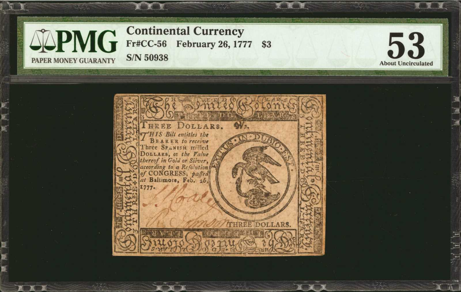 sample image for 1777 $3 CC56 Baltimore