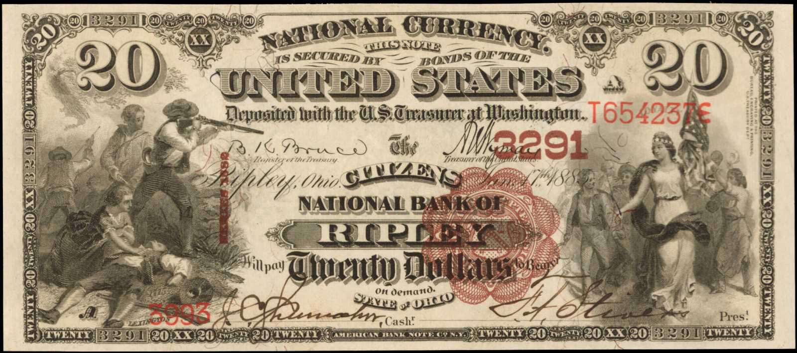 sample image for 1882 2nd Charter Period $20  Brown Back 1st Issue (Fr.# 493506TYPE) [Type]