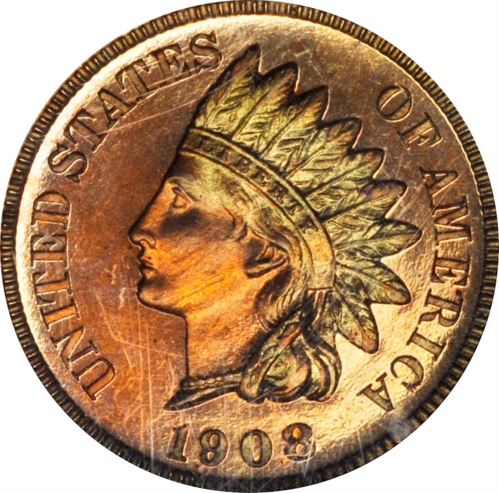 sample image for 1908 1c PR BN