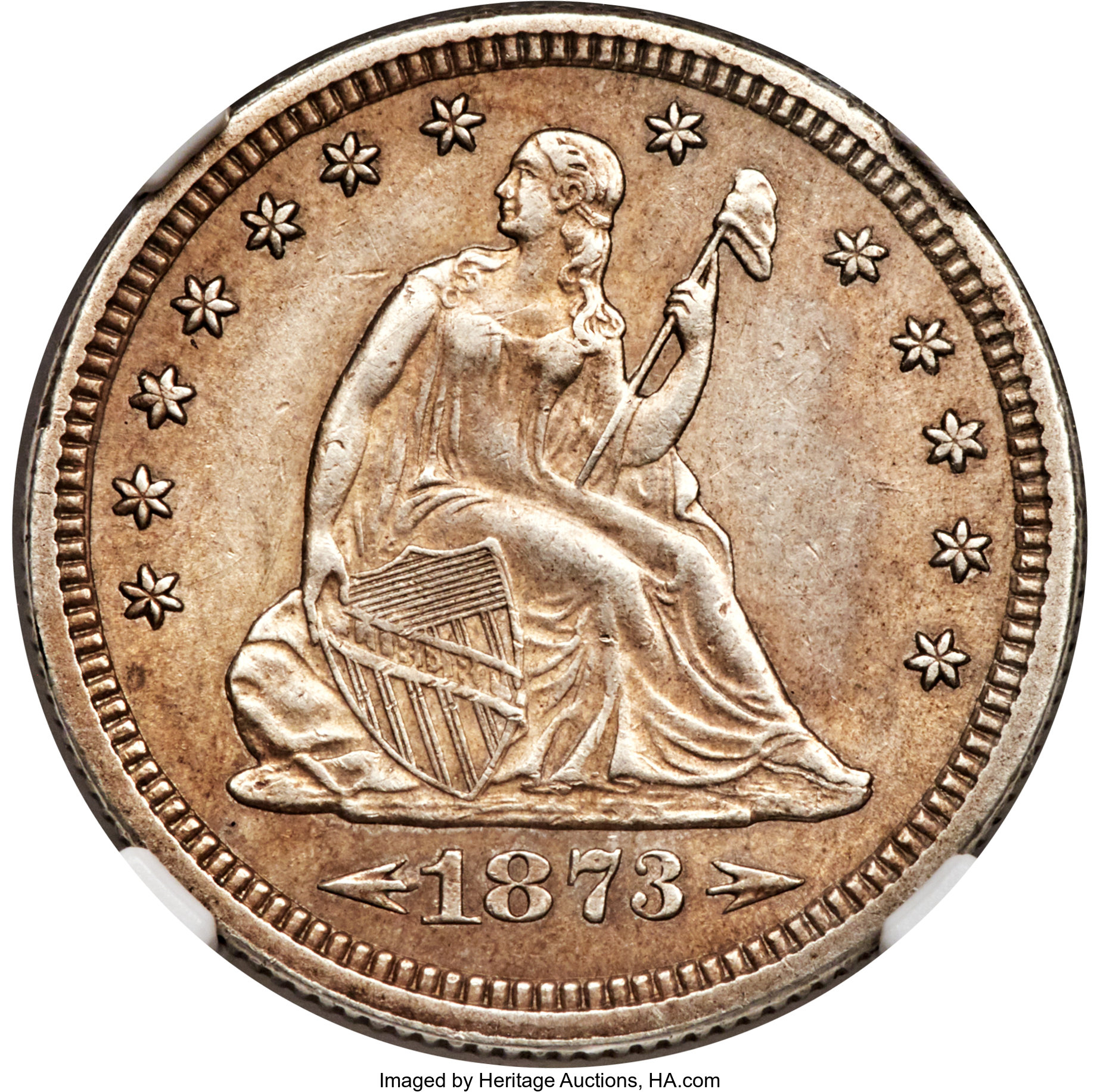 sample image for 1873-CC 25c MS Arrows