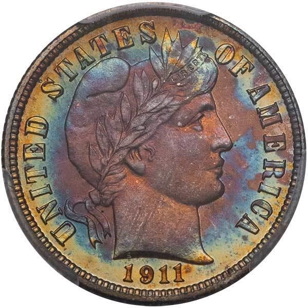 sample image for 1911 10c PR