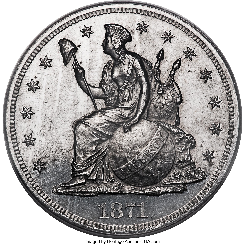 sample image for 1871 P$1 (J-1149) PR