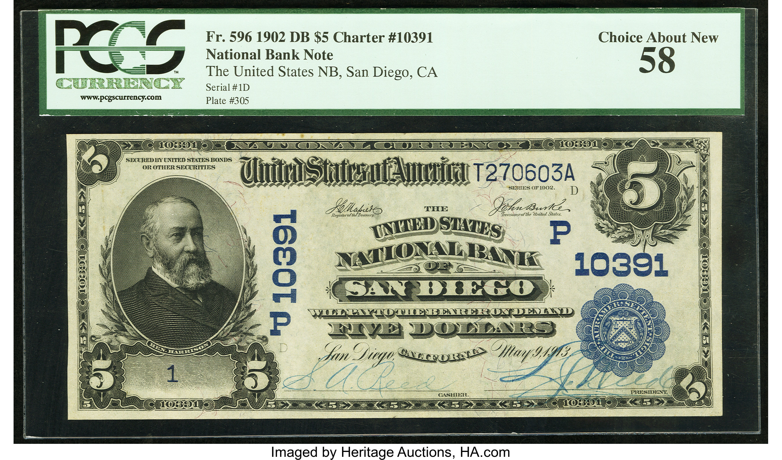 sample image for 1902 3rd Charter Period $5  Date Back 2nd Issue (Fr.# 596)