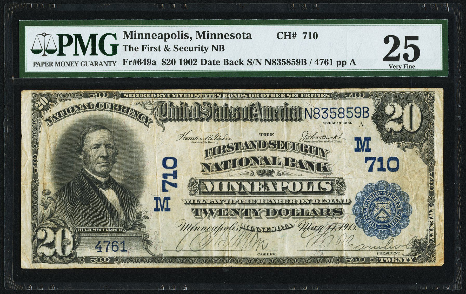sample image for 1902 3rd Charter Period $20  Date Back 2nd Issue (Fr.# 649a)