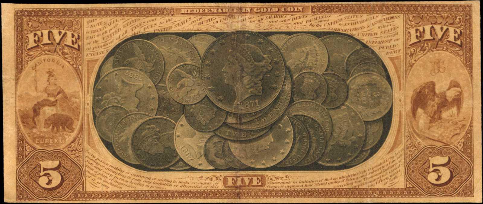 sample image for 1870 $5  San Francisco (Fr.# 1136)