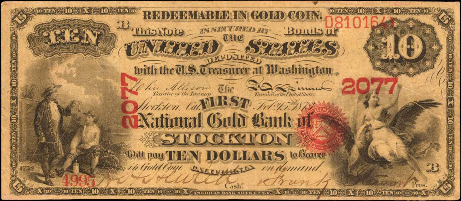 sample image for 1873 $10  Stockton (Fr.# 1146)