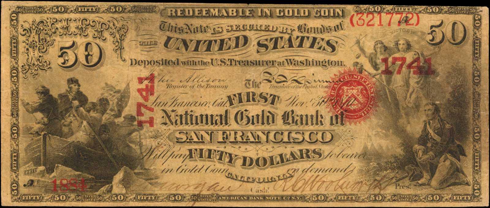 sample image for 1870 $50  San Francisco (Fr.# 1160)