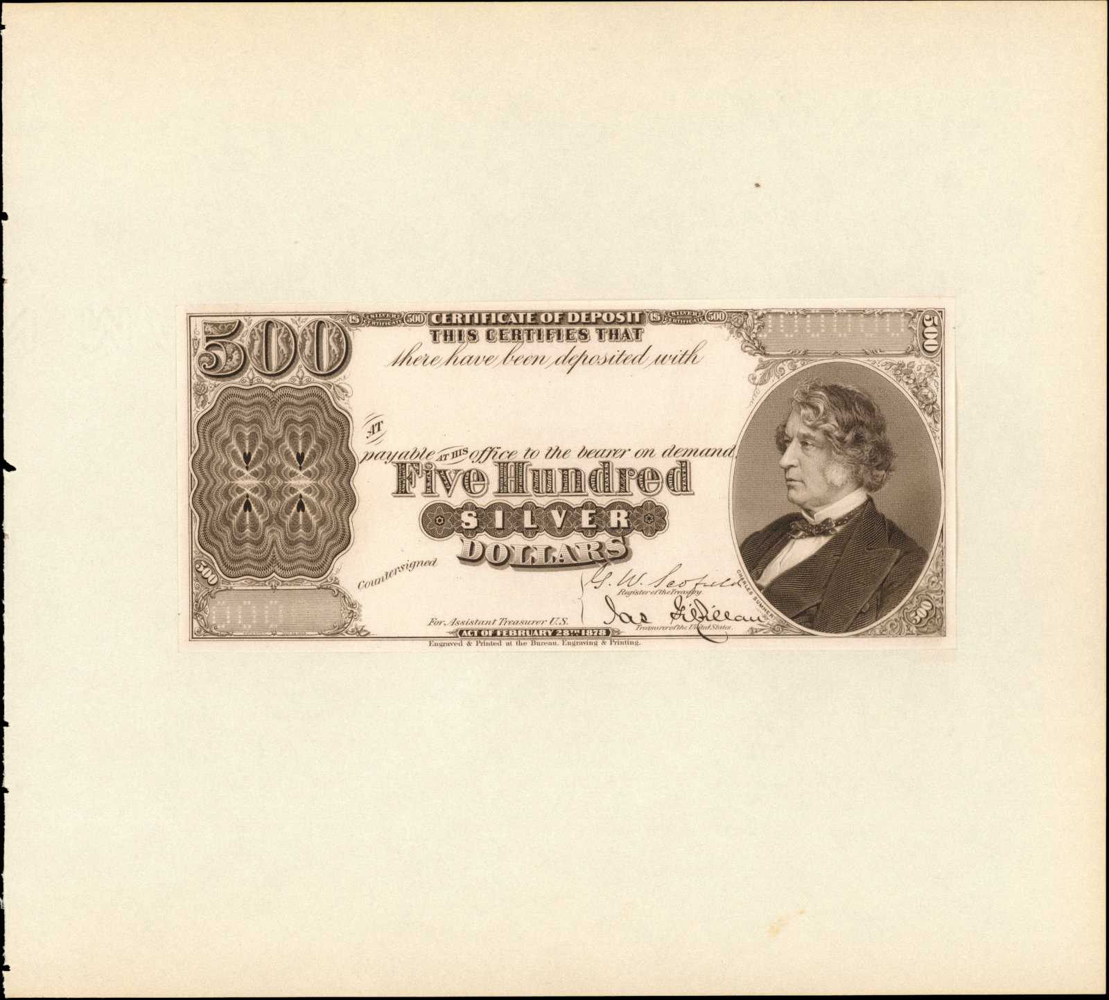 sample image for 1878 $500  (Fr.# 345a)