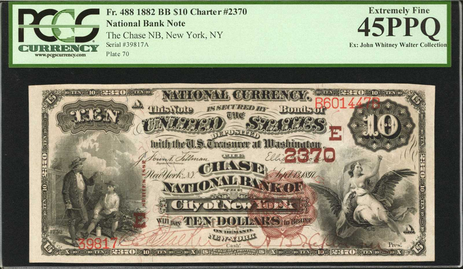 sample image for 1882 2nd Charter Period $10  Brown Back 1st Issue (Fr.# 488)