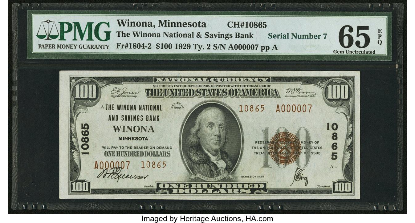 sample image for Fr.1804-2 $100 1929