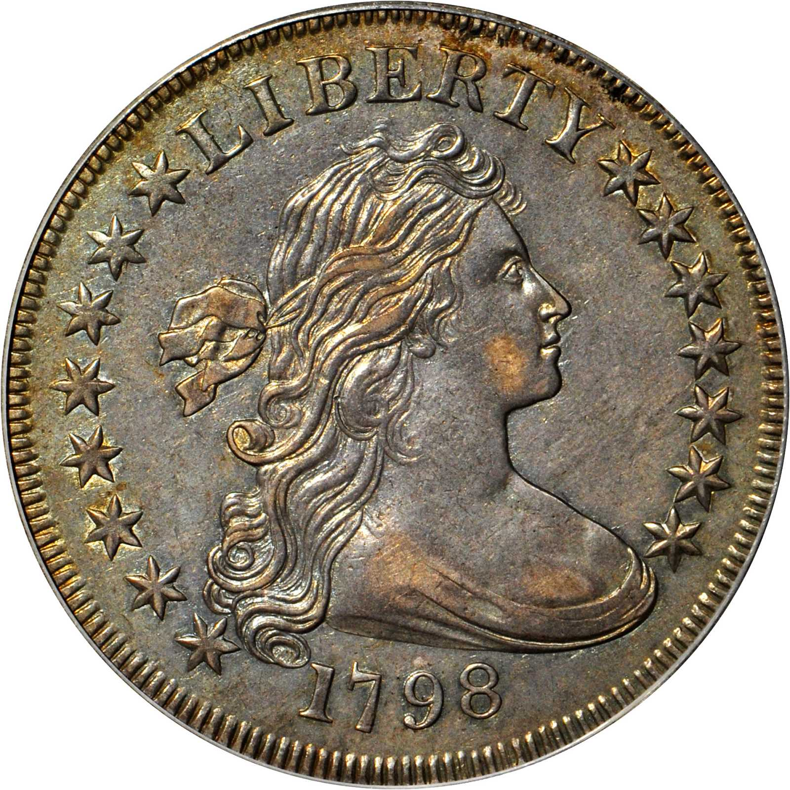 sample image for 1798 Small Eagle $1  MS 15 Stars Obverse