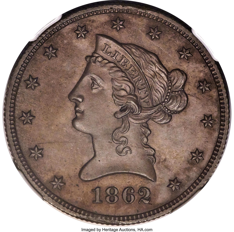 sample image for 1862 J-298 P$10 PR BN