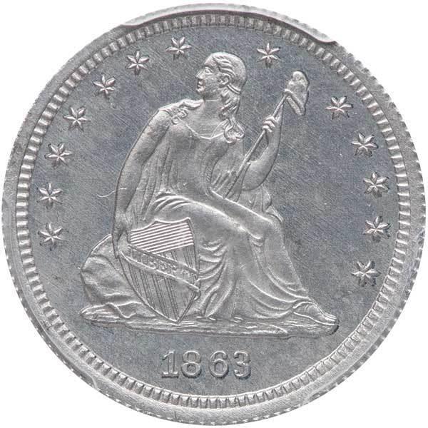 sample image for 1863 J-337 P25c PR