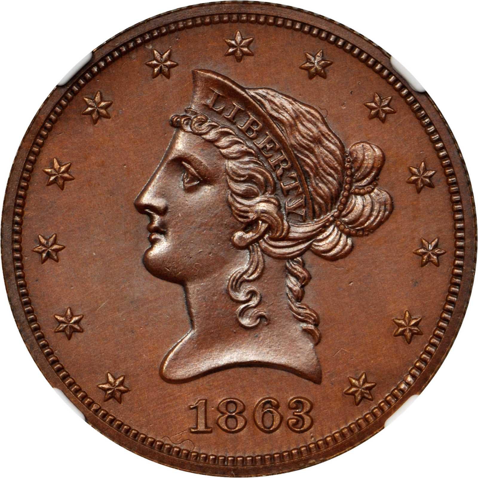 sample image for 1863 J-352 P$10 PR BN
