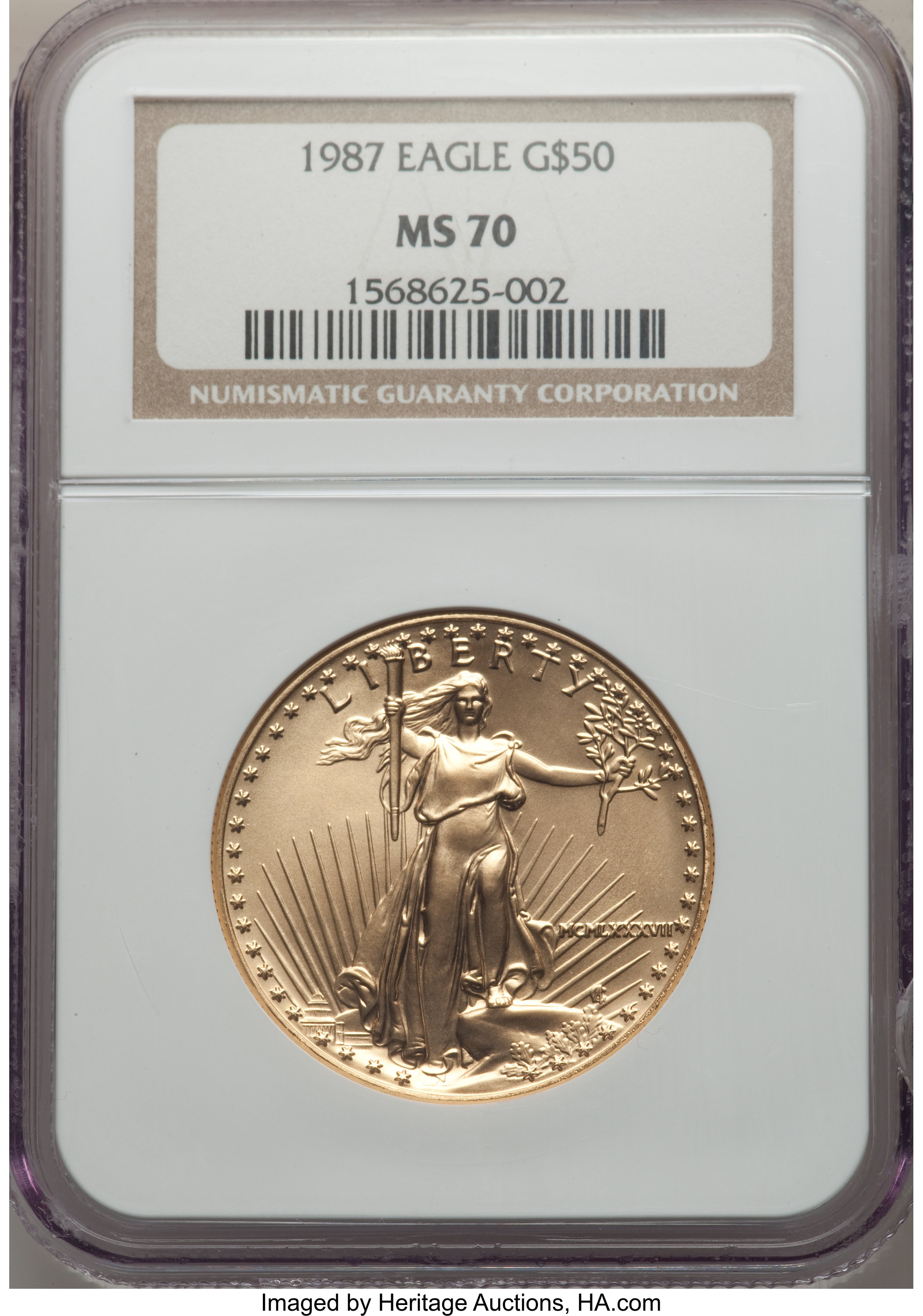 sample image for 1987 Gold Eagle $50  MS