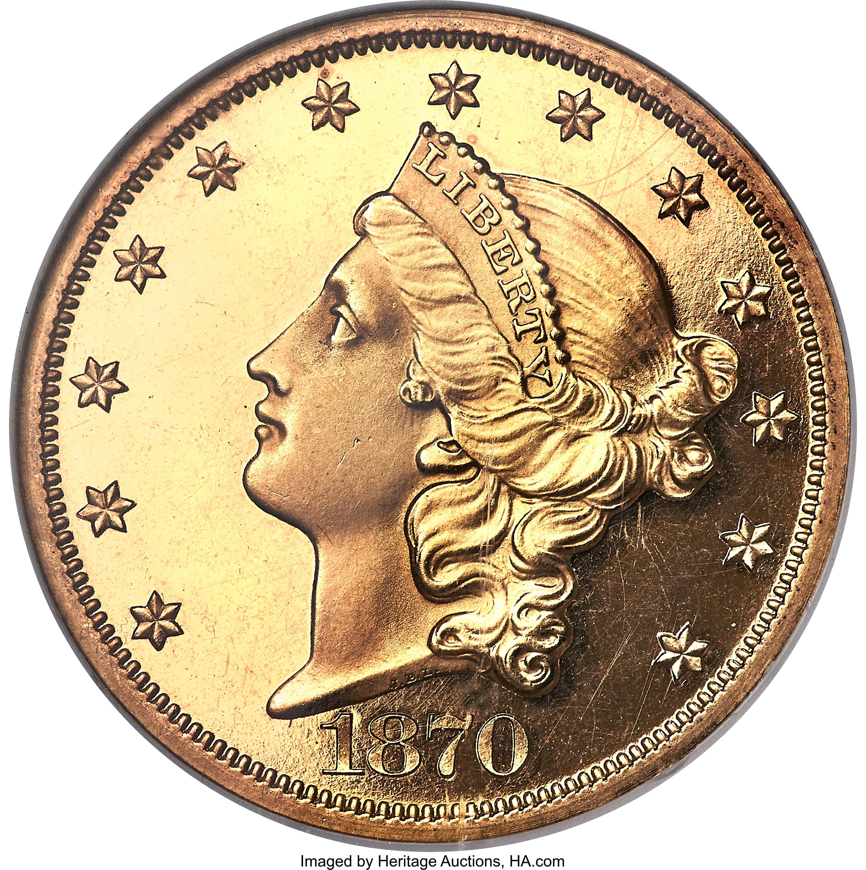 sample image for 1870 $20  PR DCAM