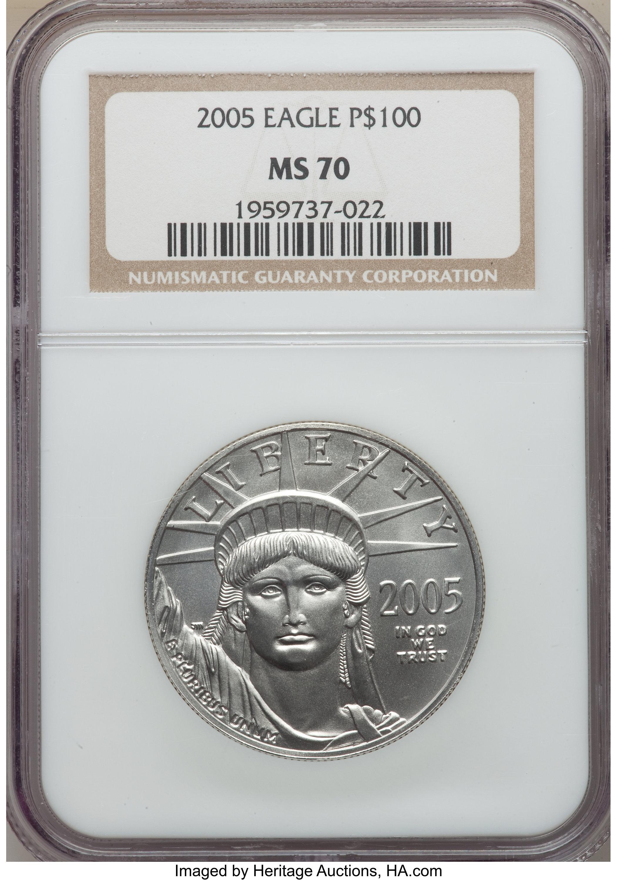 sample image for 2005 Platinum Eagle $100  MS