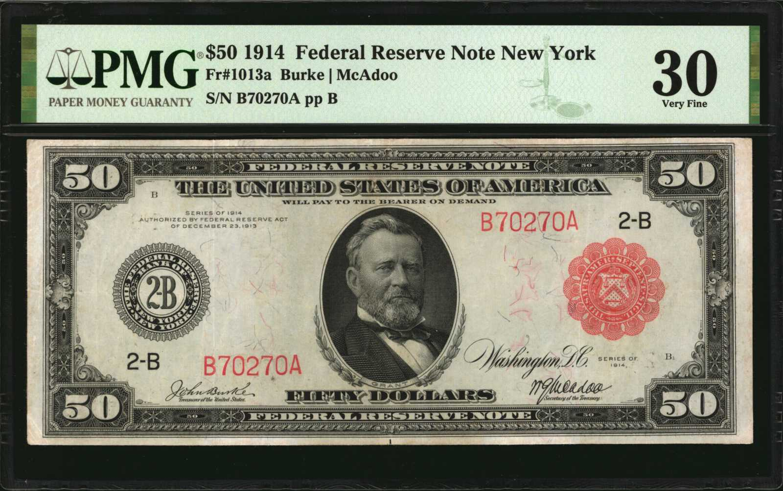 sample image for Fr.1013A $50 NY RS
