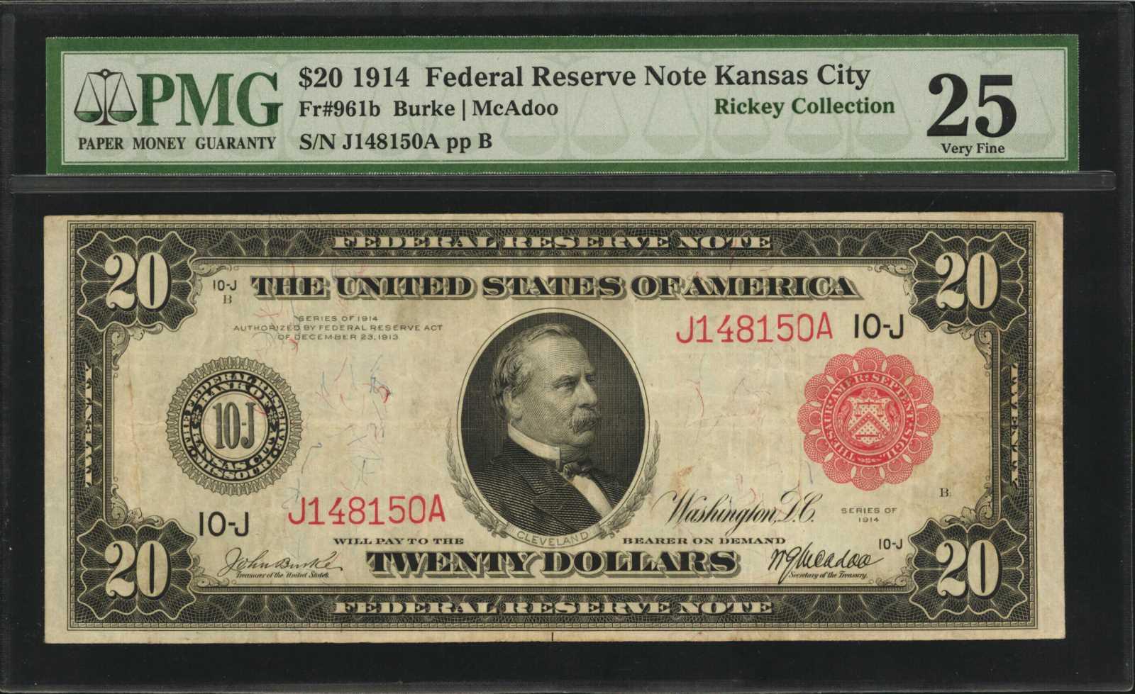 sample image for Fr.961B $20 KC RS