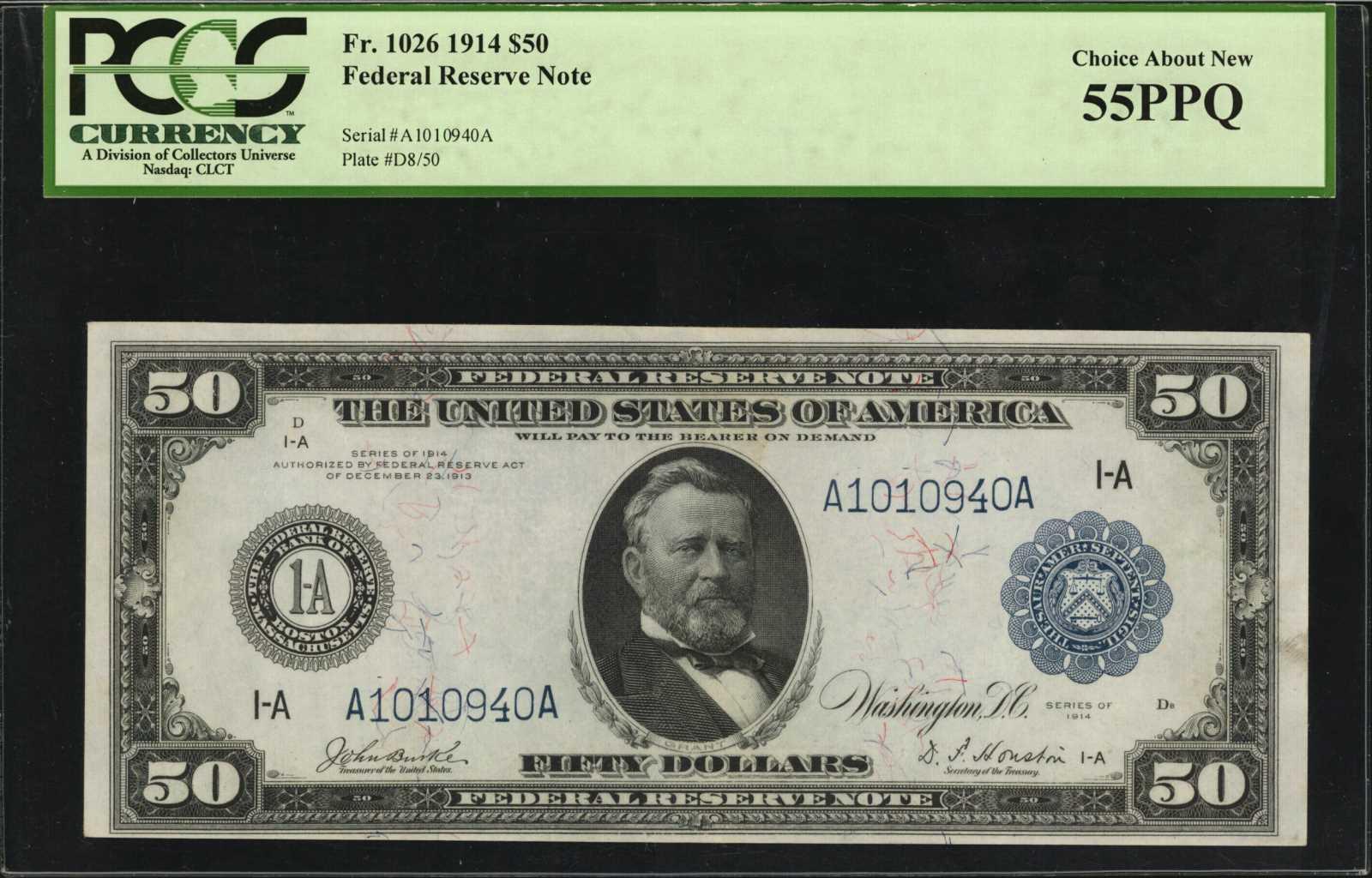 sample image for Fr.1026 $50 Boston