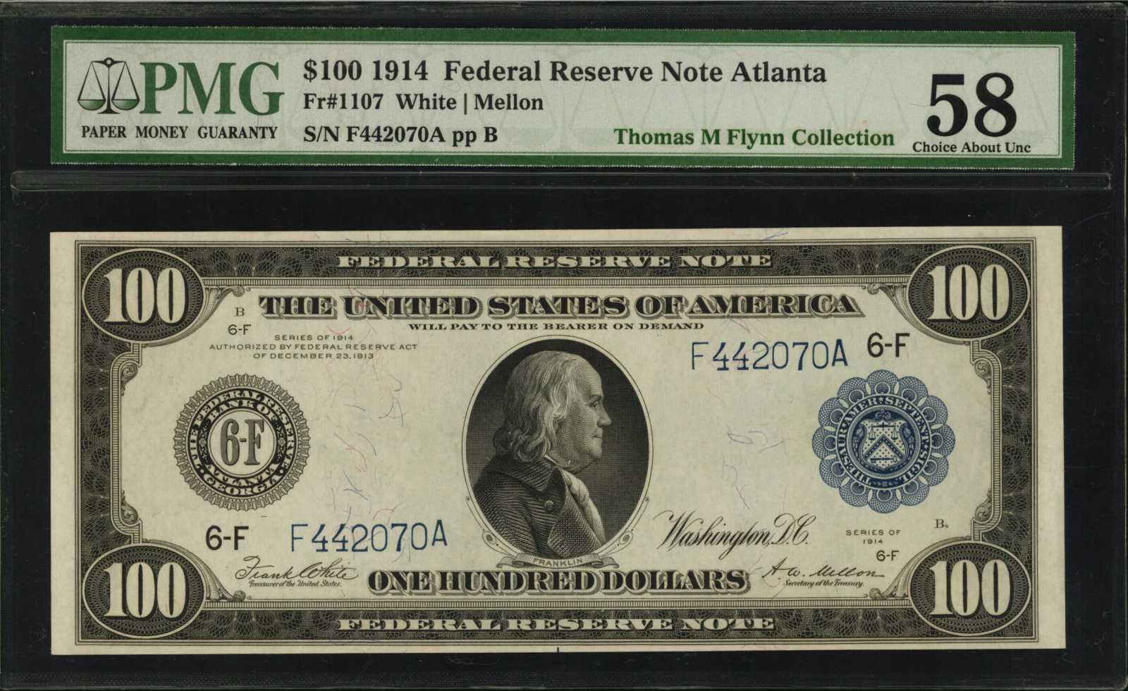 sample image for Fr.1107 $100 Atl