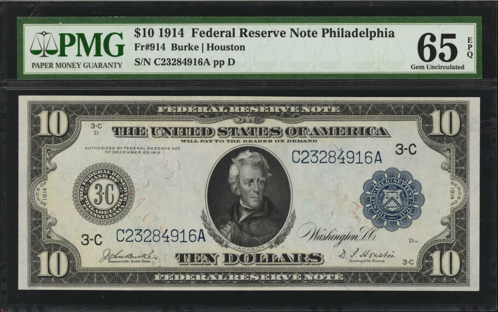 sample image for Fr.914 $10 Philly