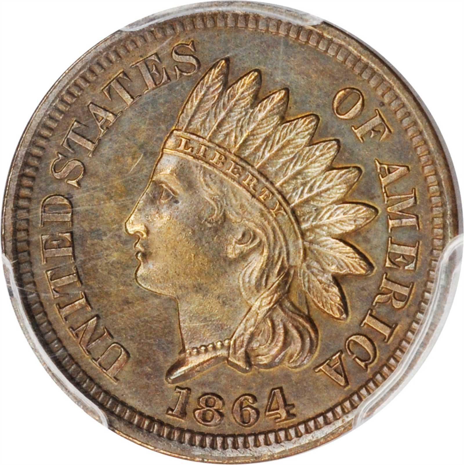 sample image for 1864 1c PR BN Bronze