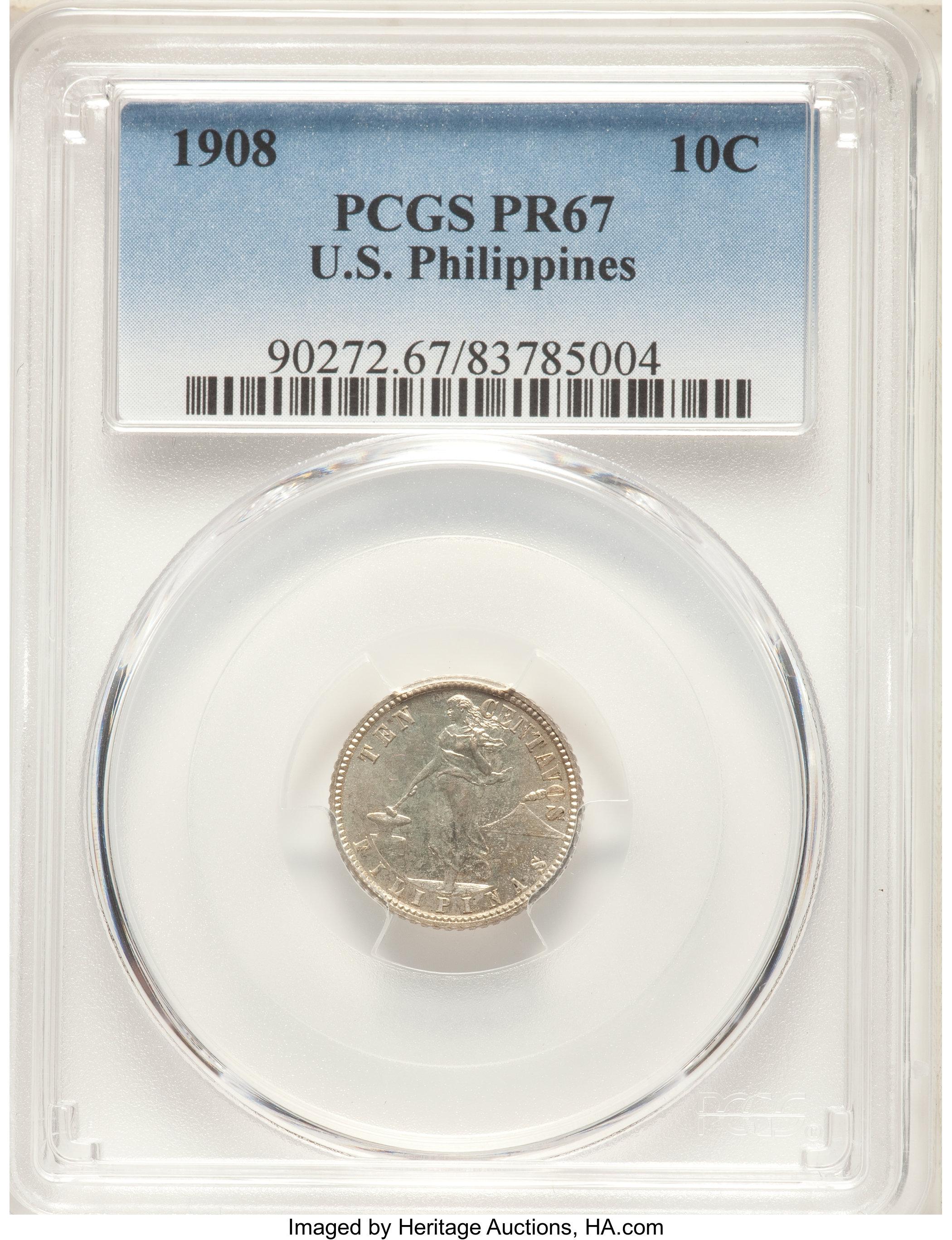 sample image for 1908 10c PR