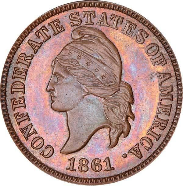 sample image for 1861 CSA 1c PR BN Copper Restrike