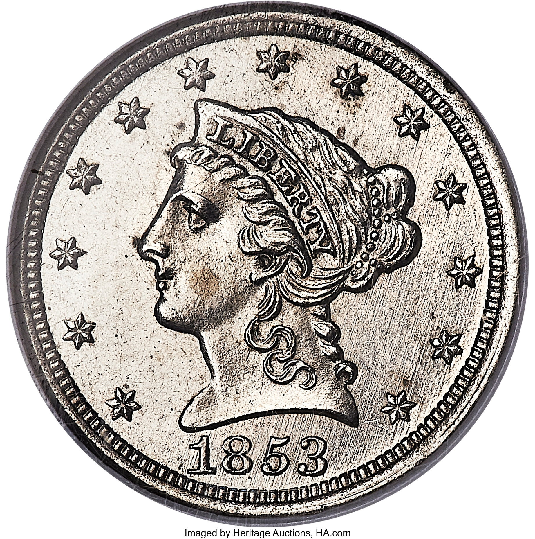 sample image for 1853 J-150, Thick Planchet E1C PR