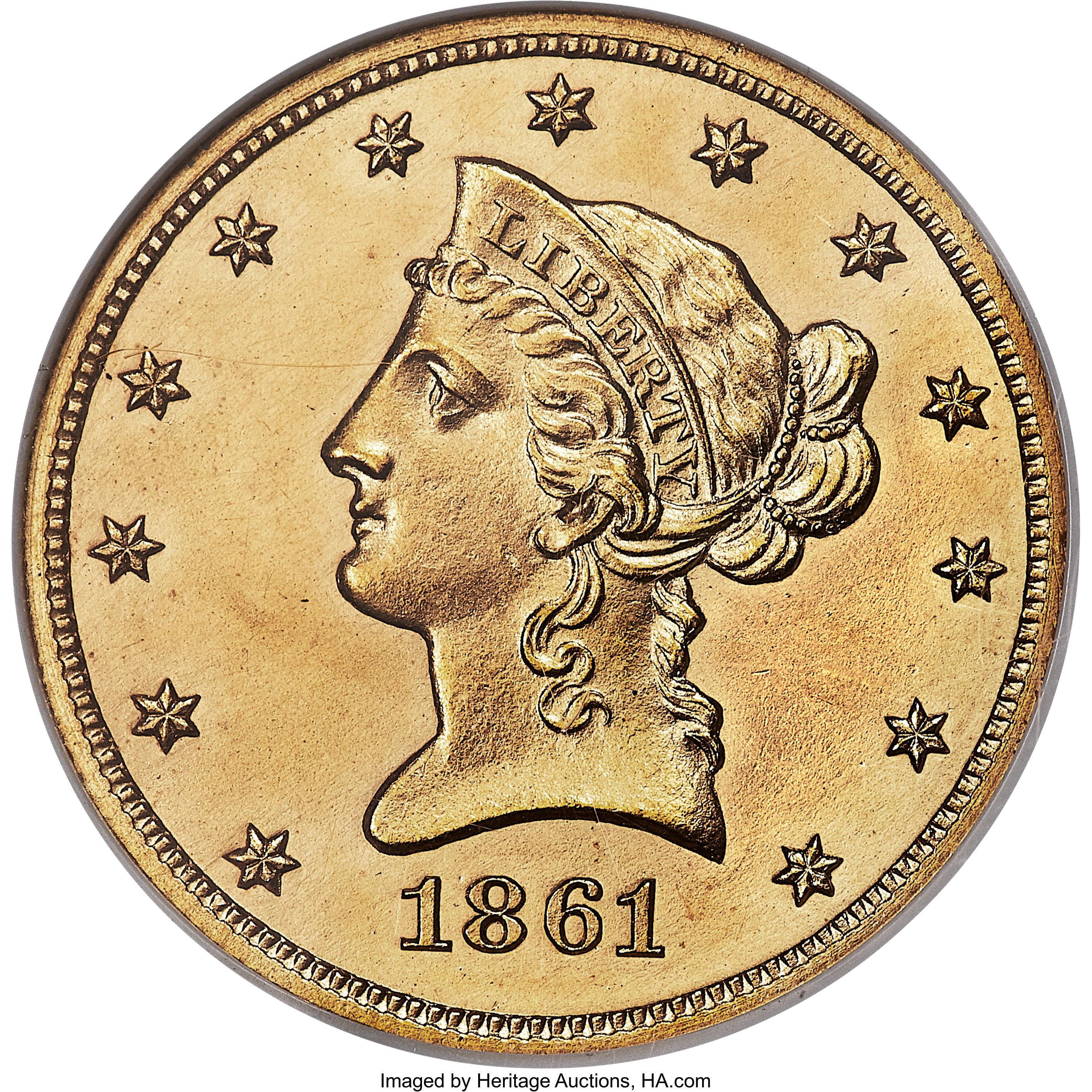 sample image for 1861 J-287 P$10 PR BN