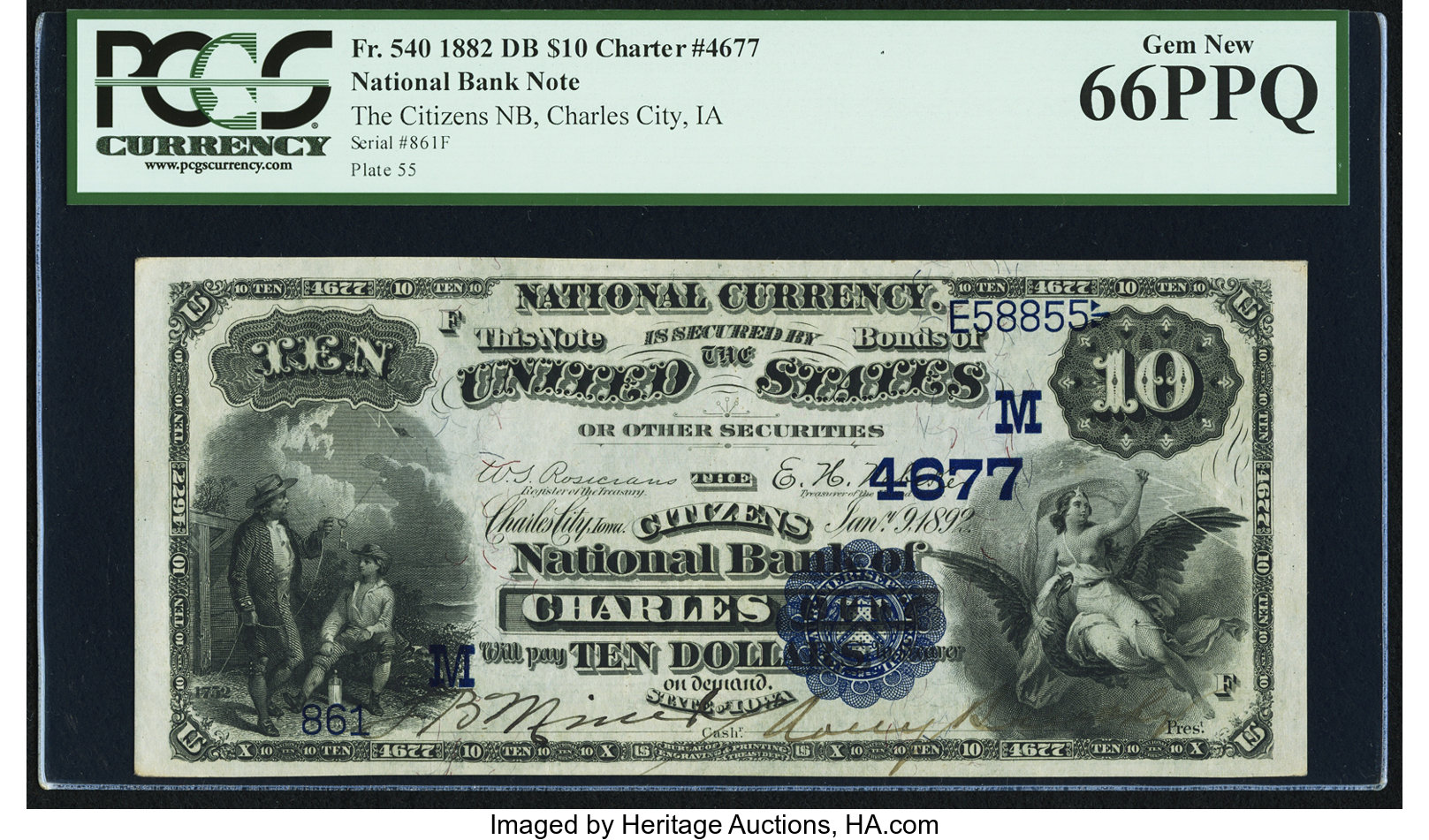 sample image for 1882 2nd Charter Period $10  Date Back 2nd Issue (Fr.# 540)