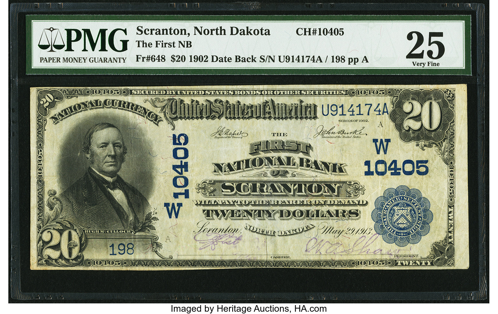 sample image for 1902 3rd Charter Period $20  Date Back 2nd Issue (Fr.# 648)