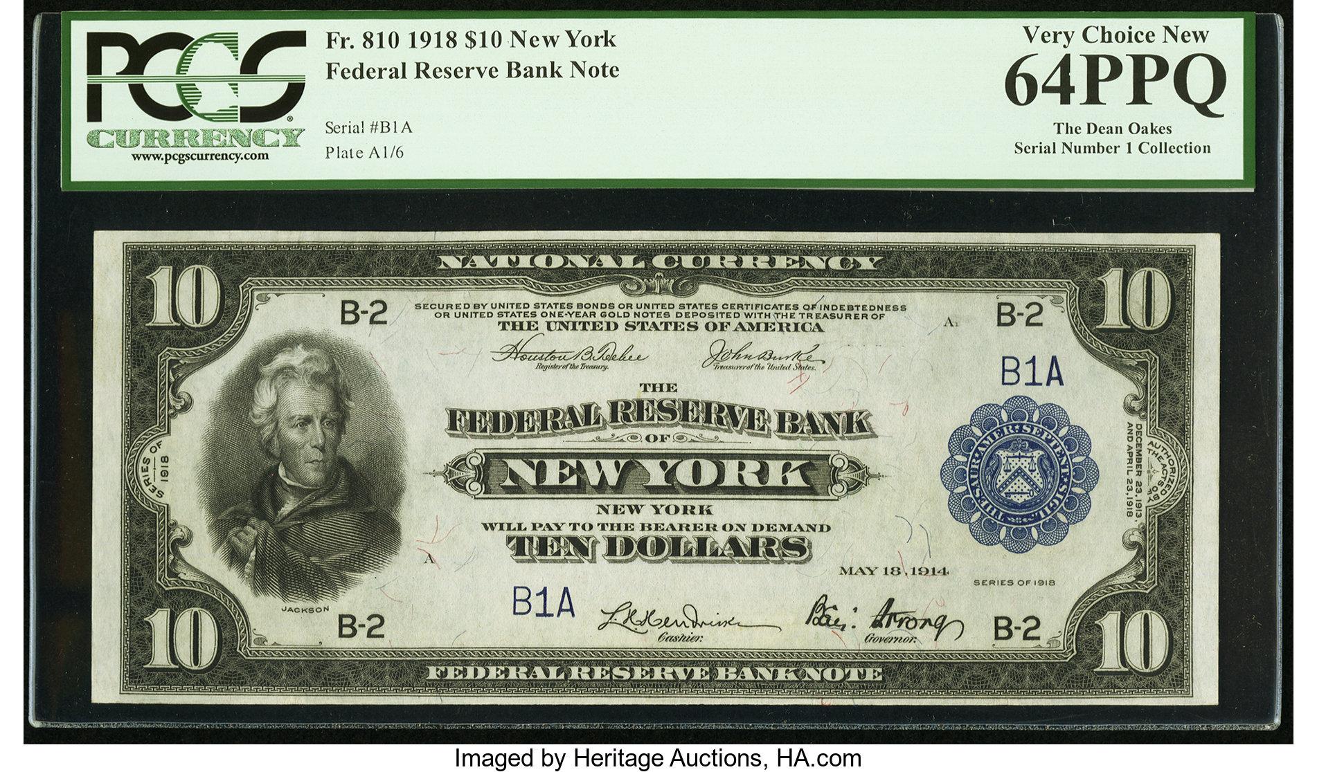 sample image for 1918 $10  New York (Fr.# 810)
