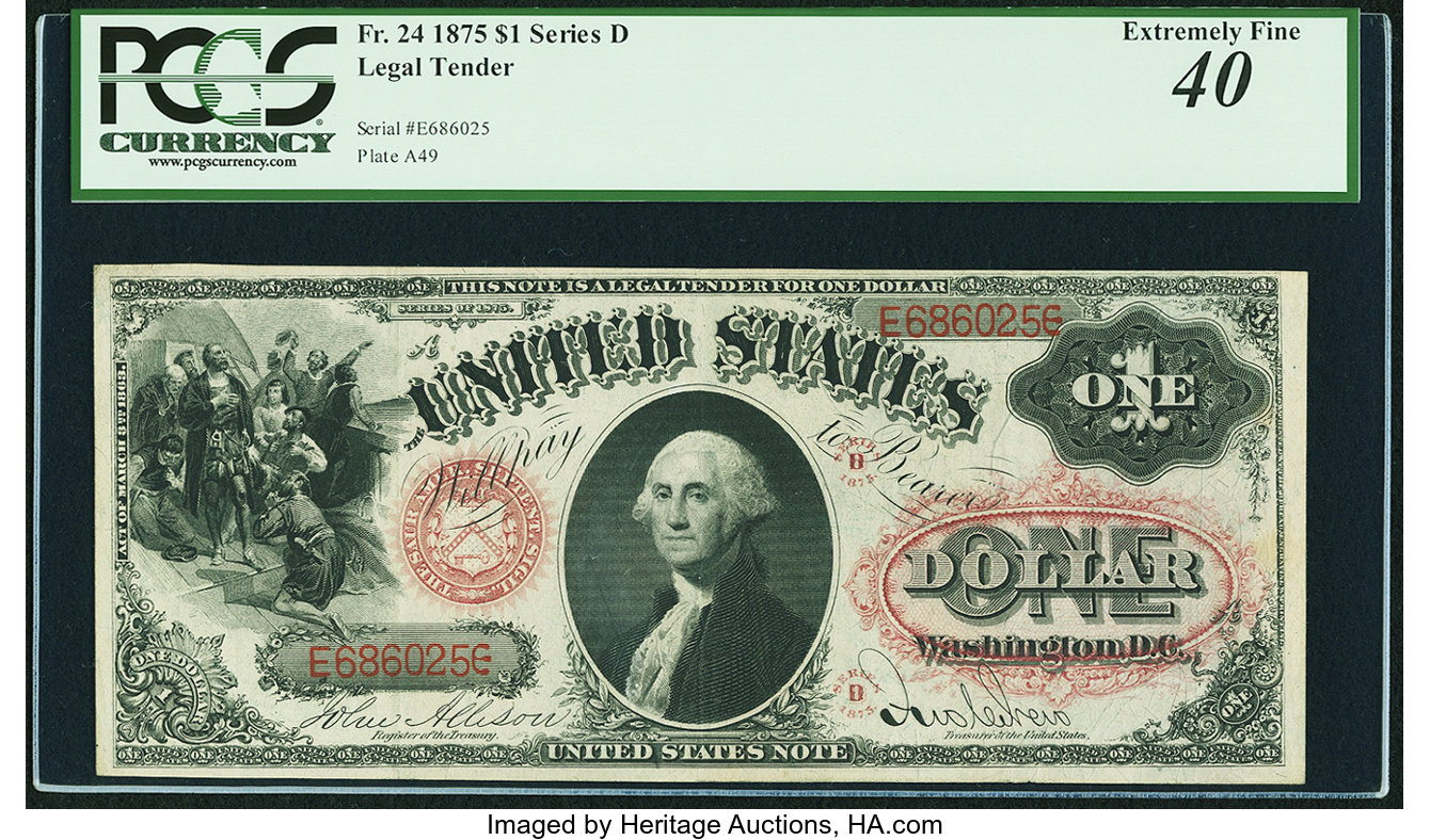 sample image for 1875 $1  (Fr.# 24)