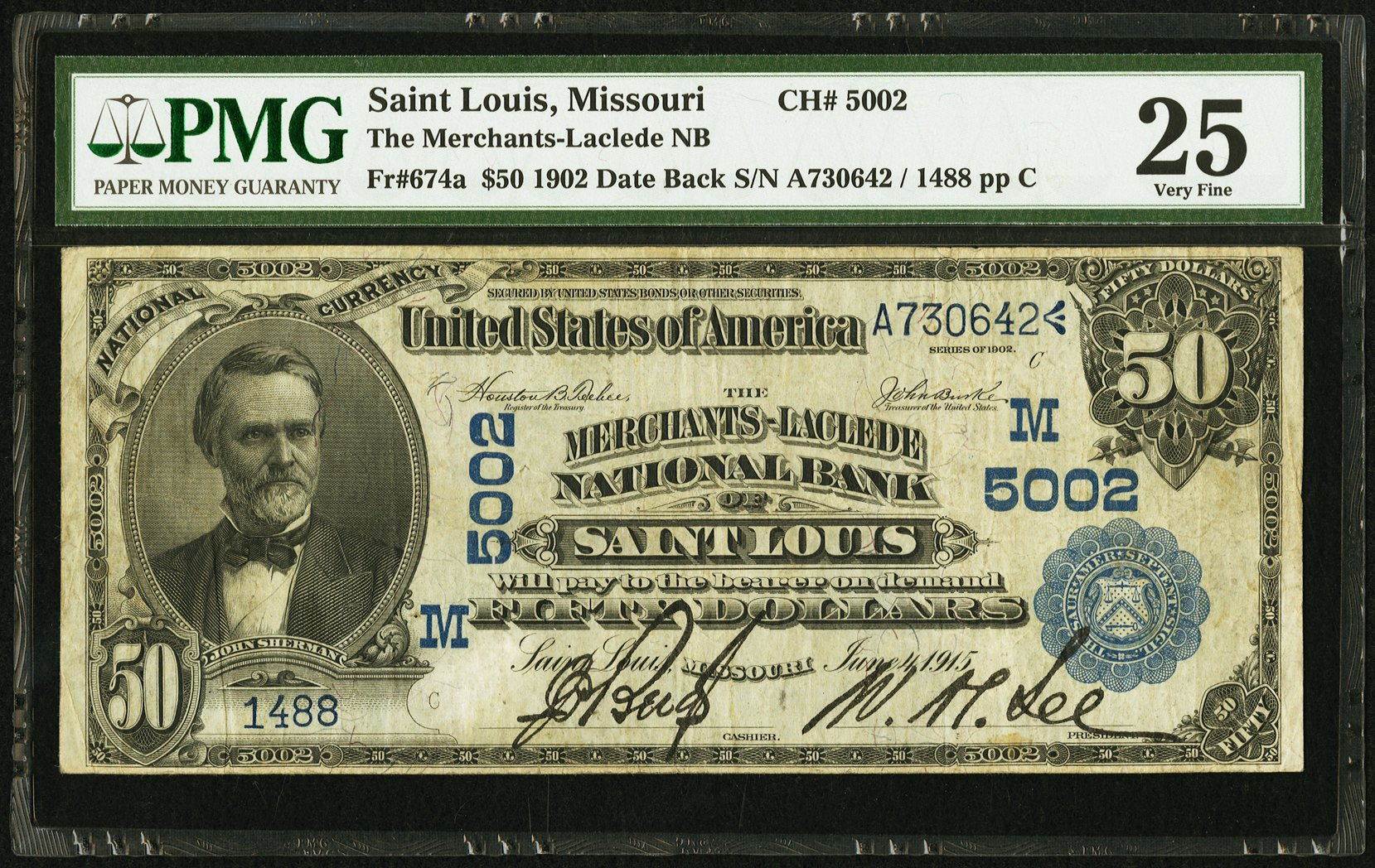 sample image for 1902 3rd Charter Period $50  Date Back 2nd Issue (Fr.# 674a)