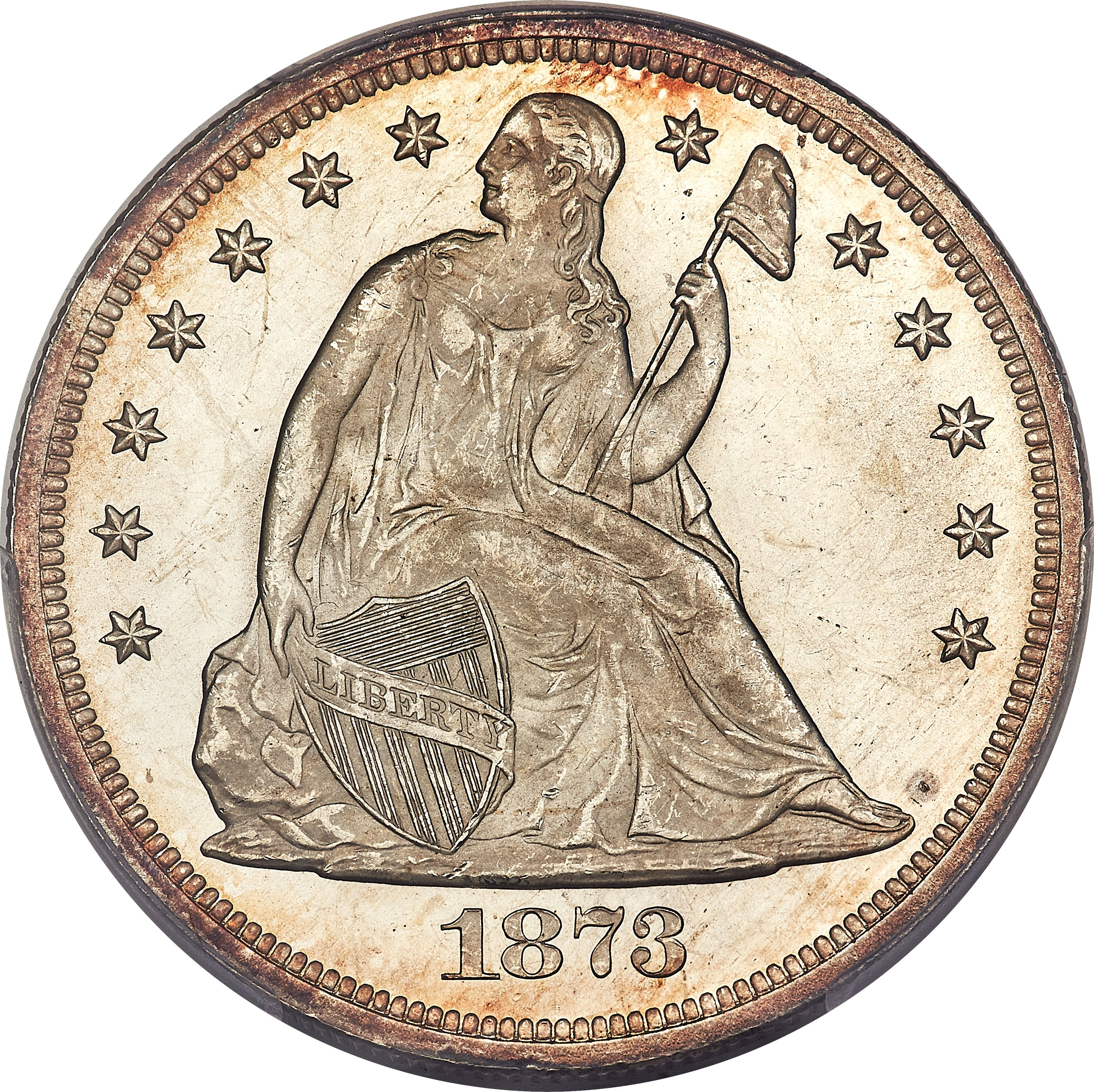 sample image for 1873 $1  MS
