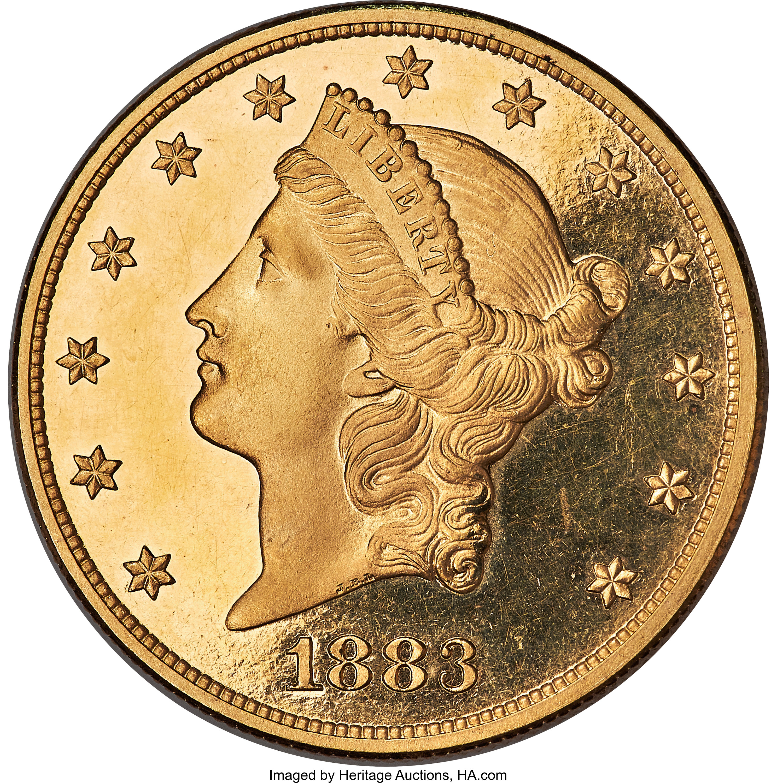 sample image for 1883 $20  PR DCAM