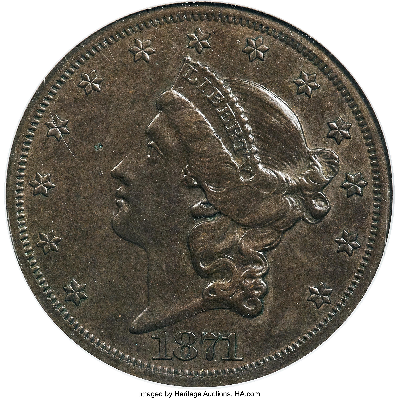 sample image for 1871 P$20 (J-1176) PR BN
