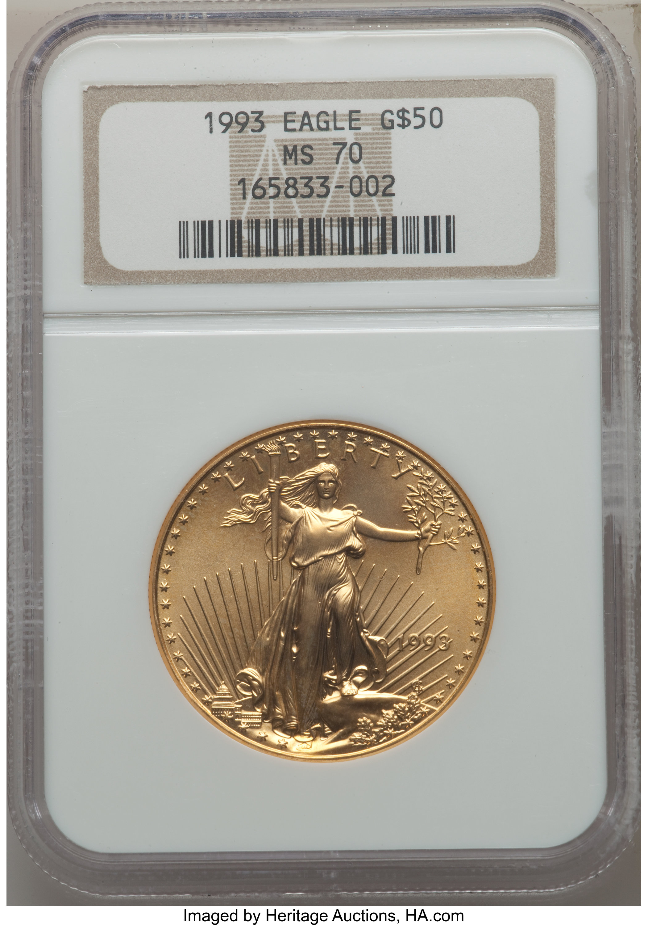 sample image for 1993 Gold Eagle $50  MS