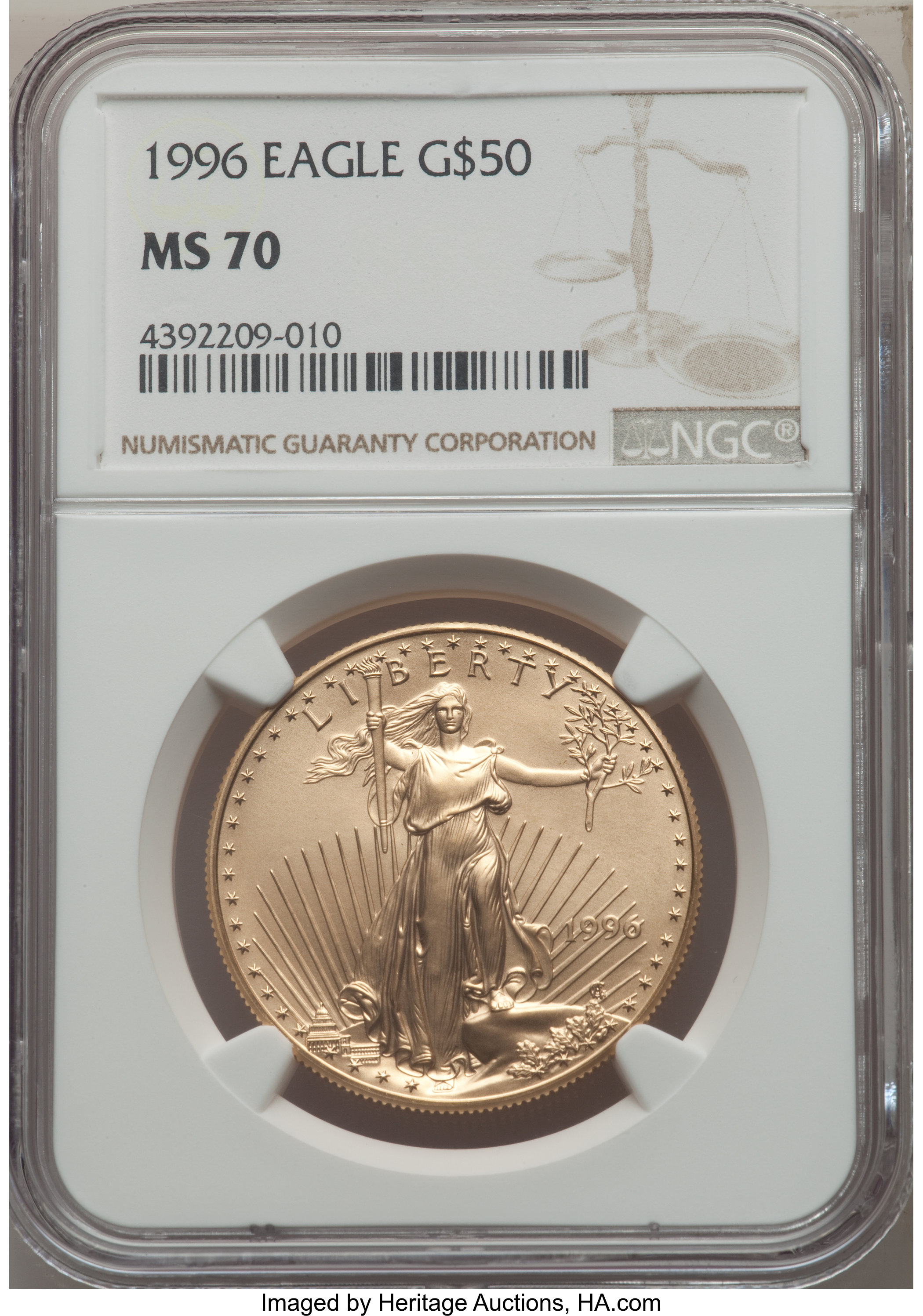 sample image for 1996 Gold Eagle $50  MS