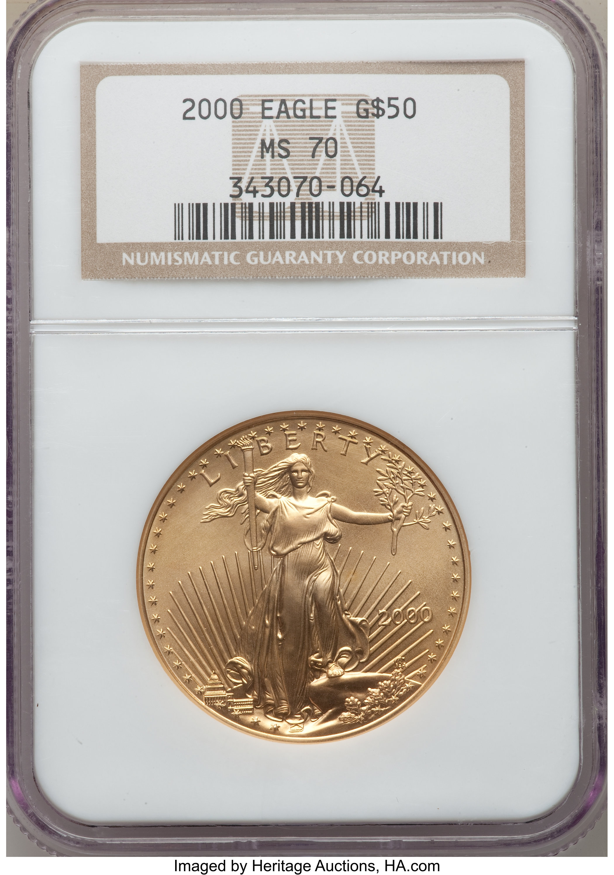 sample image for 2000 Gold Eagle $50  MS