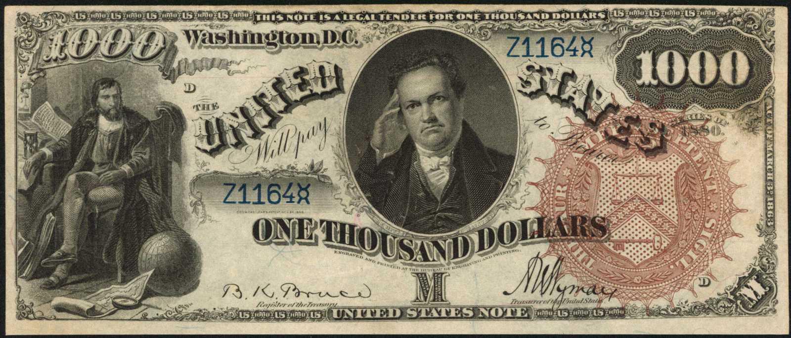 sample image for 1880 $1,000  (Fr.# 187b)
