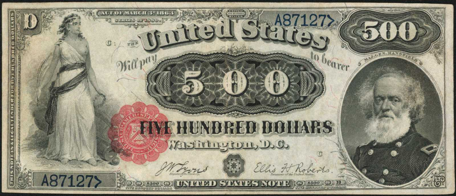 sample image for 1880 $500  (Fr.# 185m)