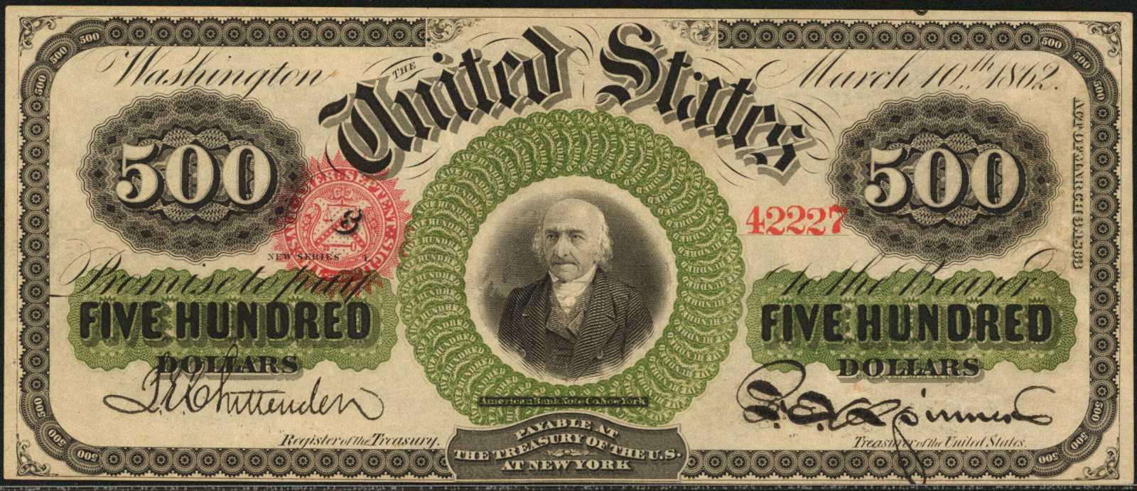 sample image for 1863 $500  (Fr.# 183c)
