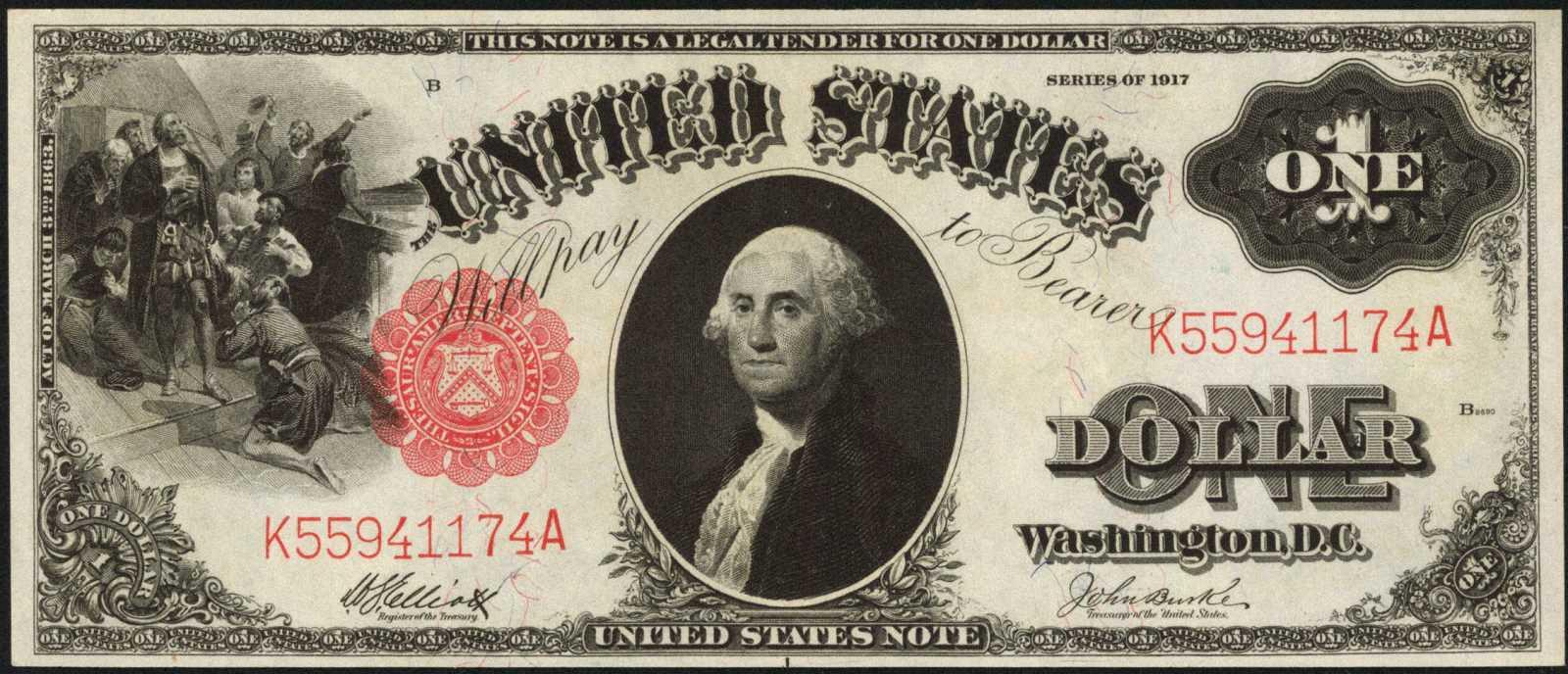 sample image for 1917 $1  (Fr.# 39)