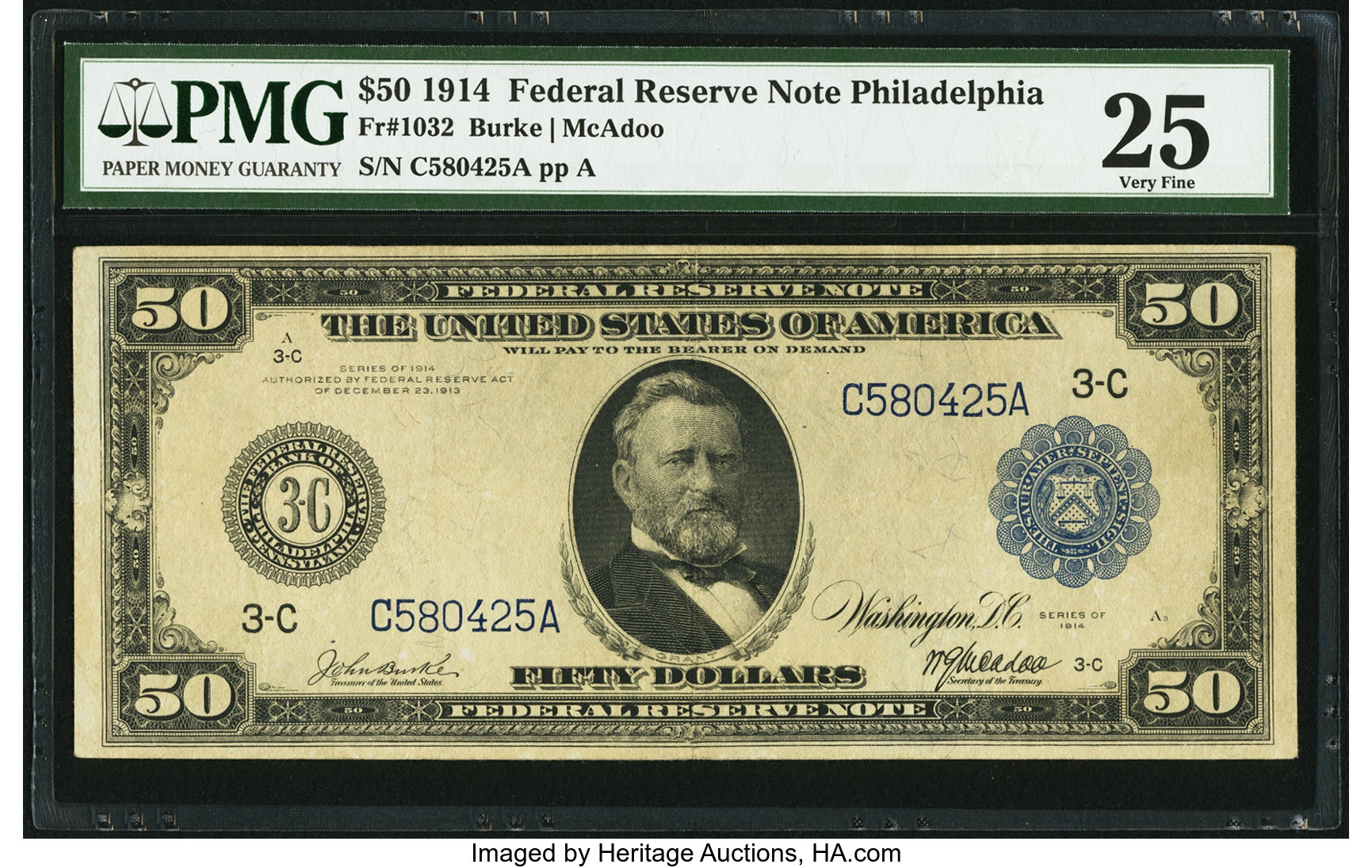 sample image for Fr.1032 $50 Philly