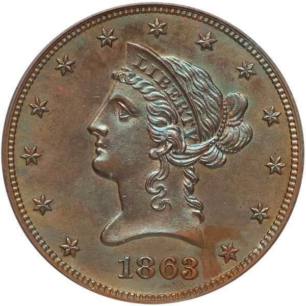 sample image for 1863 J-350 P$10 PR BN