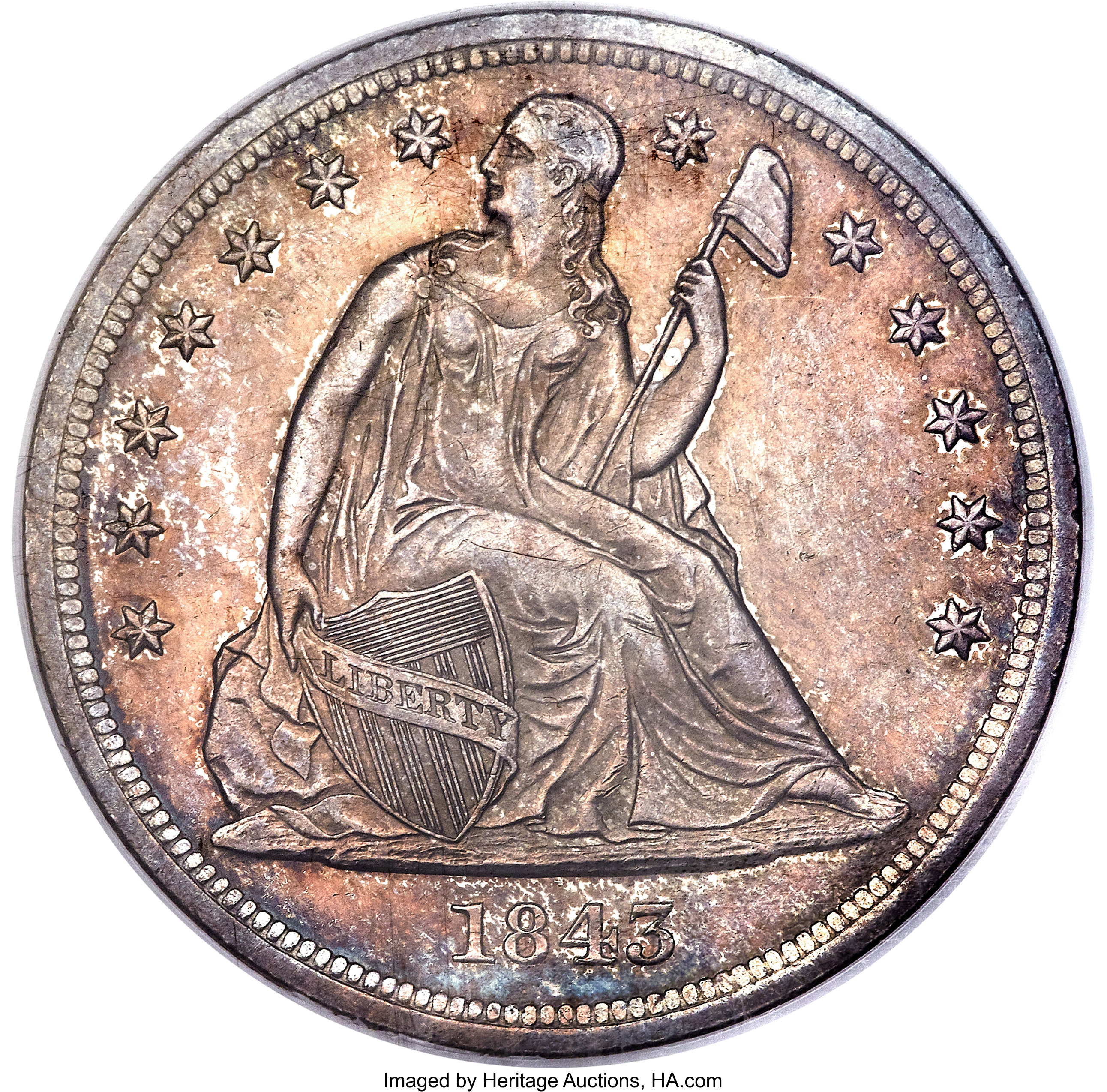 sample image for 1843 $1  MS